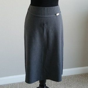 The Limited Signature Gray Stretch Skirt